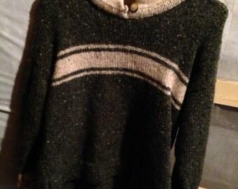 Vintage Irish Ireland sweater, old fashioned jumper
