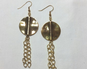 Golden Circle Earrings / Handmade, hancrafted