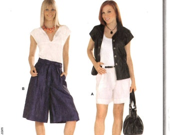 Burda 7654 Pantskirt Shorts Sewing Pattern Size 34