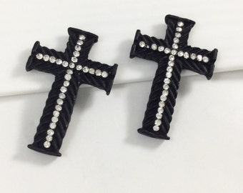 15pcs Wholesale  Rhinestone  Cross beads ,Cross Connector, Cross Necklace , Cross Jewelry.
