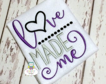 Love Made me shirt or bodysuit, Love valentine Shirt, Love shirt, Valentine's Day, Valentine Shirt, Love made me, Baby Shower Gift, New Baby