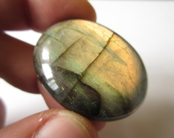 Labradorite Cabochon 39mmX31mm Natural Flash Stone Cab Mineral N.429A