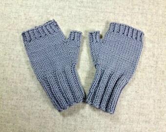 Organic arm warmers for toddlers, gray, wool merino, handknitted wrist warmers, fingerless mittens