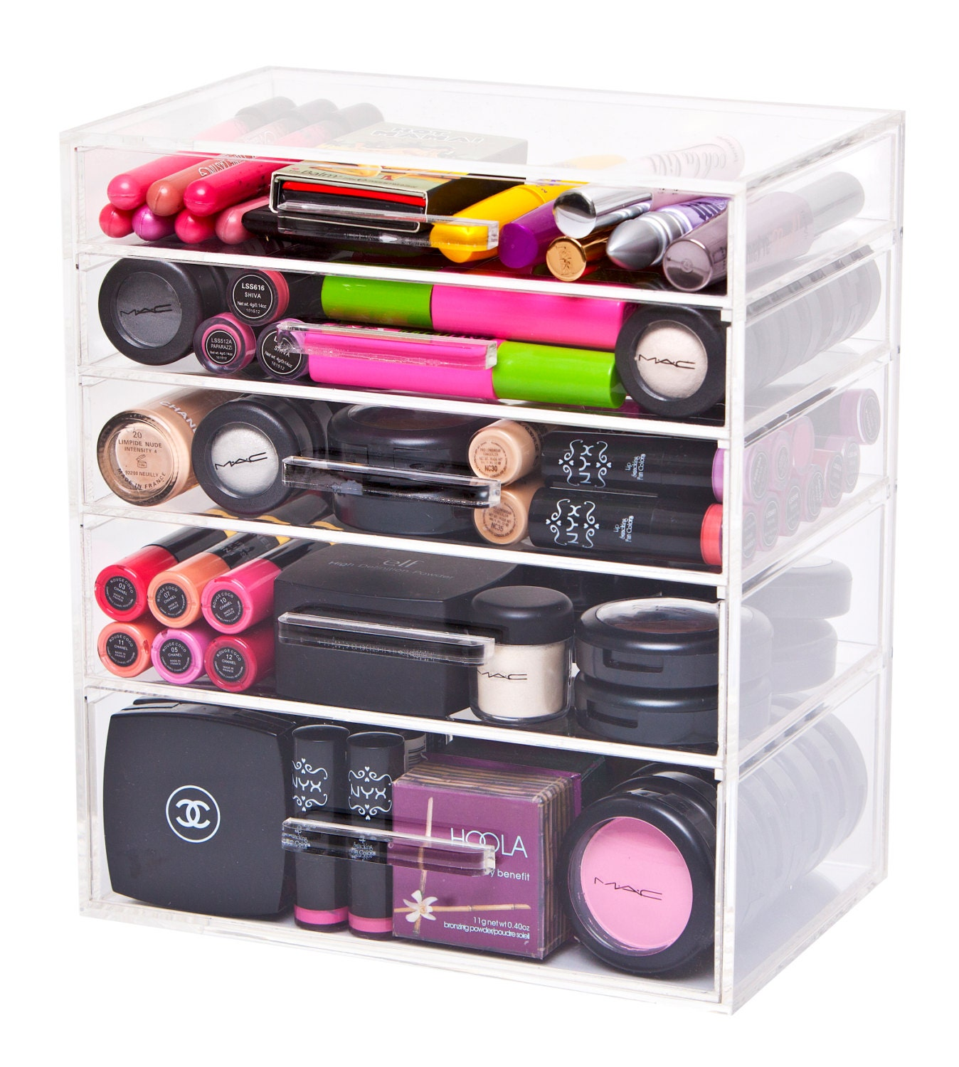 Kate Acrylic Makeup Organizer 5 Drawer Storage Modular Makeup