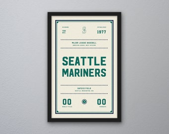 "Seattle Mariners ""Day & Night"" Print"