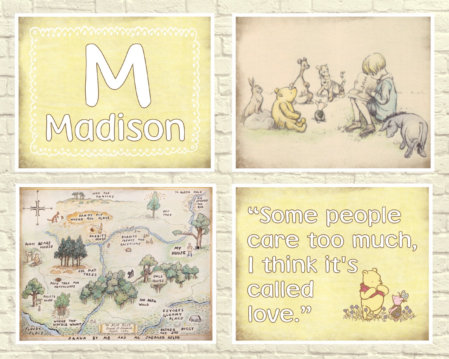 Wonderful Winnie The Pooh Wall Art Quotes Photos - The Wall Art ...