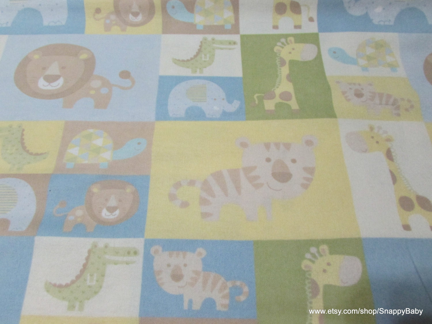 Flannel fabric baby zoo patched by the yard 100 cotton for Baby fabric by the yard
