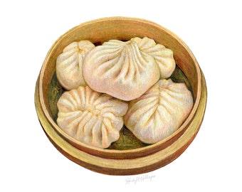 Dumpling Illustration // Food Illustration // Art Print