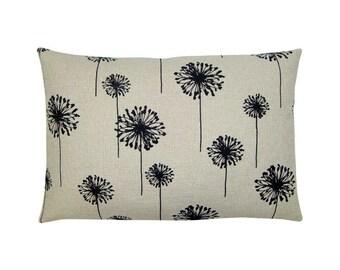 Cushion cover beige black DANDELION jute dandelion 30 x 50 cm