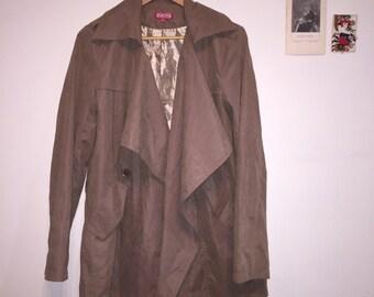 SES Silk Beige Suede Coat