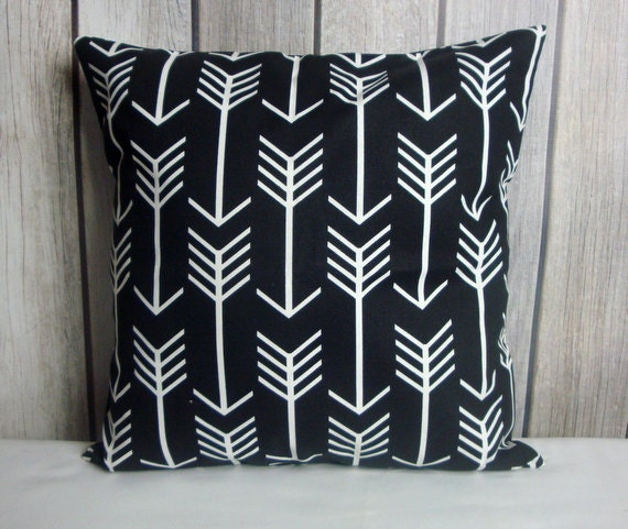 Throw Pillow. Arrow Pillow. Black Pillow. Pillow Cover. Black Arrow Pillow. Black White Pillow