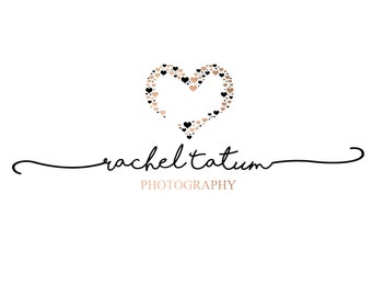 """Custom Premade Photography Logo and Watermark """"Hearts"""" - Exclusive Package Bulk Rate"""