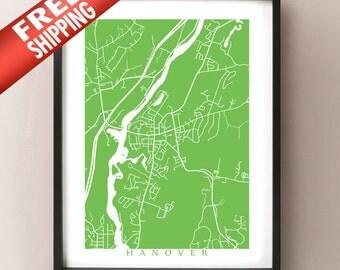 Hanover, NH Map Print