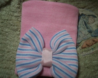 AuThEnTiC HoSpItAL CaP FoR BaBy Or ReBoRn~ PiNk With BOW~