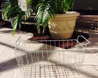 1960's Industrial Galvanized Wire Basket, Bin Box, Rectangle Bin Box, Metal Handles, Wire Basket, Industrial Decor, Wedding Favor Basket
