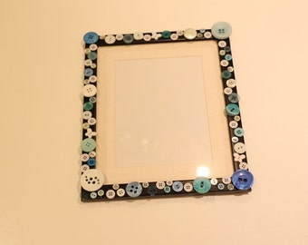 Large Handmade Button Photo Frame