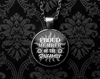 Supernatural Necklace, Supernatural Family, Supernatural Keychain, Supernatural Jewelry, Supernatural TV Show, Winchesters