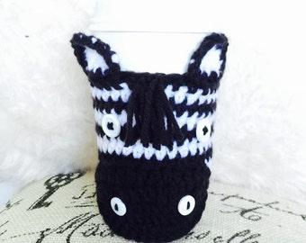 Zebra Coffee Cozy - Zebra Animal Coffee Cup Warmer