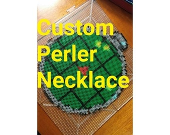 Moon Perler Necklace