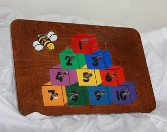 11 Piece Children's Handmade Wooden Puzzle