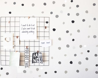 Stormy Hand Drawn Dots - WALL DECAL