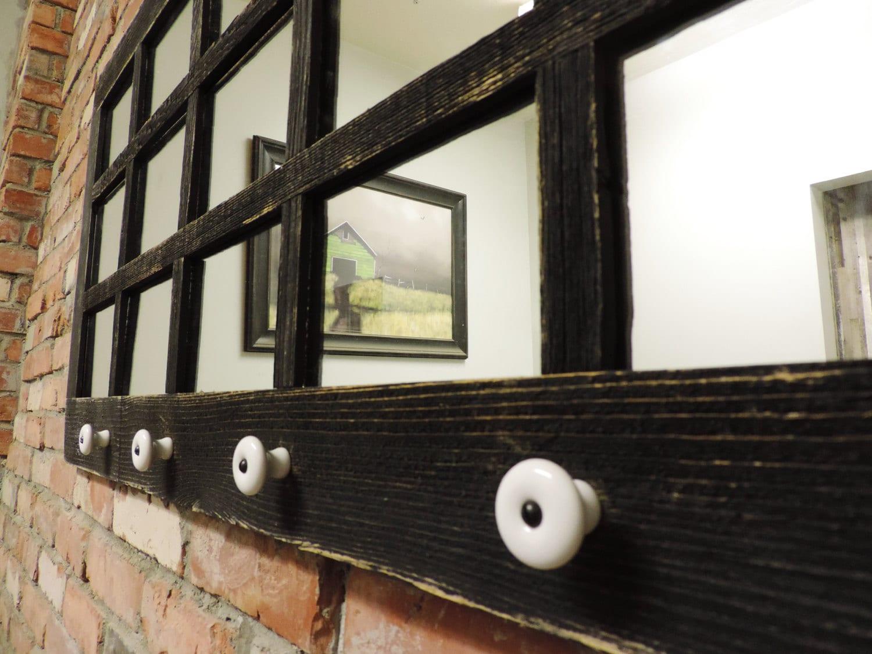 41 5 x 20 5 barnwood window mirror 15 pane w for 15 window pane door