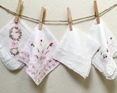 Pink and White Bundle of Handkerchiefs