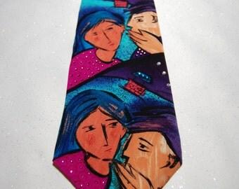Do You Want to Know a Secret Beatles rhinestone necktie