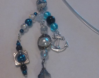 Shepards hook bookmark Blues and Anchor                             item #12
