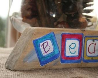 Driftwood Sign - BEACH - ABC Blocks
