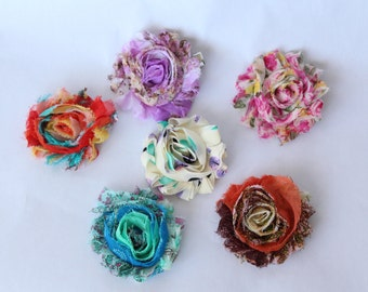 Set of 6 Shabby Chic hair clips