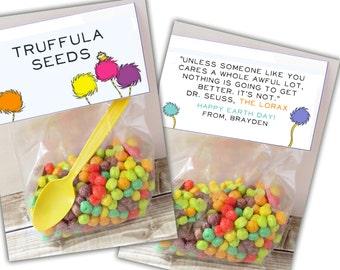 Printable Earth Day Truffula Seeds Tag