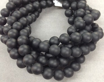 Multiple  Strands of Matte onyx  round 8mm    Special Price!