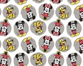 Disney Mickey Minnie Pluto Fabric FLANNEL From Camelot