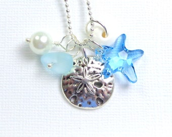 Beach Sea Glass Necklace  Big Island Beach Glass