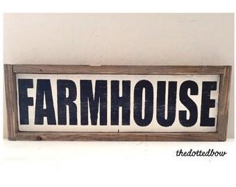 Farmhouse Framed Wood Sign
