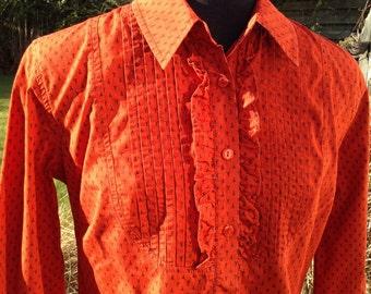 "LAURA ASHLEY Pintuck Ruffle Front Shirt - Blouse - 34"" Bust - Free UK Postage"