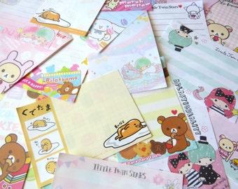 Kawaii Memo Sheet Lucky Pick - You choose 25, 50, or 100 sheets