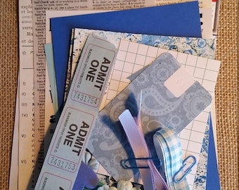 Junk Journal Kit; Scrapbook Kit; Blue Craft Kit; Inspiration Kit; Smash Book