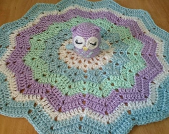 Owl lovey/security blanket