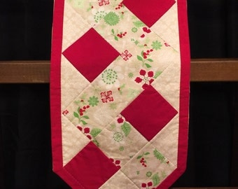Hand Quilted Holiday Table Runner