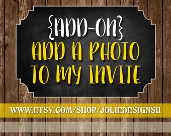 ADD A PHOTO to my Invite