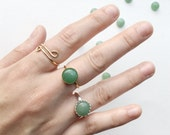 Aventurine Ring // Sterling Silver or 14k Gold Filled // Bridesmaid // Gifts for Her // Stocking Stuffer