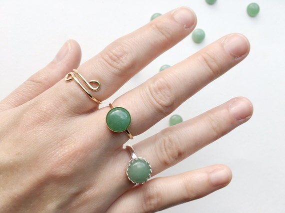 Aventurine Ring // Sterling Silver or 14k Gold Filled