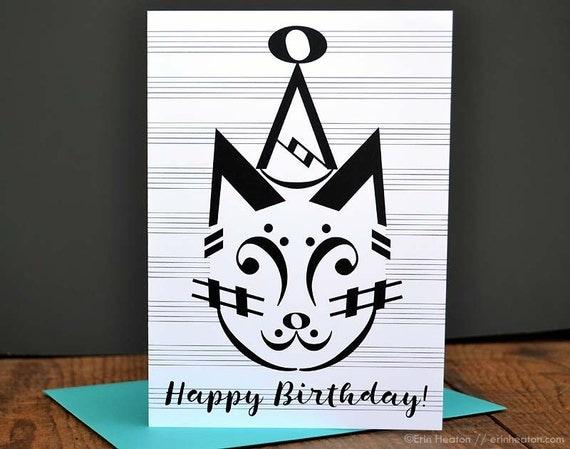 Music Birthday Cards Variety Pack of 5 Music Note Birthday – Music Cards for Birthday
