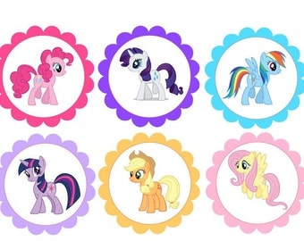 12 Little Pony's cupcake toppers