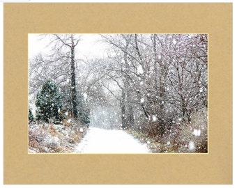 Snowy Country Road Print