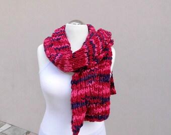 bulky scarf, shawl, chunky scarf, chunky, handknitted, microfibre