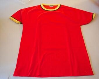 60s Red Ringer T Shirt