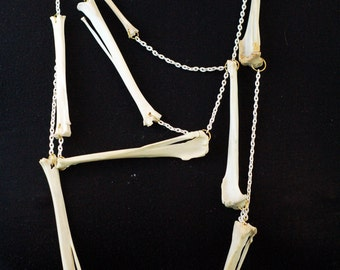 SS16 New random rabbit bone necklace bone jewelry hand with white chain